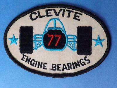 Clevite Engine Bearings Patch Race Car #77 Vintage Racing Collector Badge