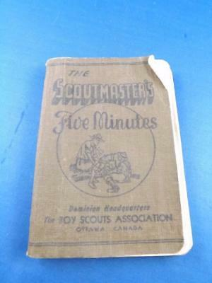 The Scoutmaster's Five Minutes Booklet Talks On Promise Law Related Subject 1944