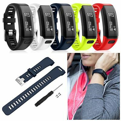 Silicone Replacement Band Bracelet Wrist Strap &Tool For Garmin Vivosmart HR/HR+