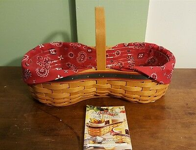 Longaberger 2000 Barbeque Barbecue BBQ Buddy Basket #16284 Liner Protector NEW
