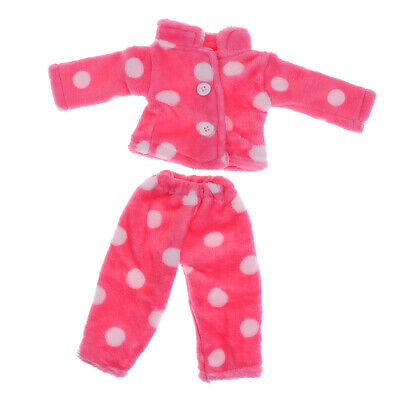 Soft Rose Red Pajamas Nightgown Pjs for 18'' AG American Doll Dolls Accessory
