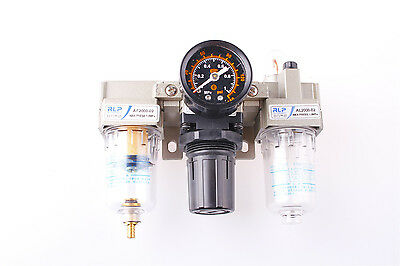 "AC2000-02 1/4"" PT Pneumatic Air Filter Regulator Lubricator with Guage"