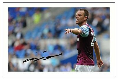 John Terry Aston Villa Autograph Signed Photo Print Soccer