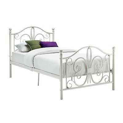 DHP - Bombay Twin Metal Bed, White