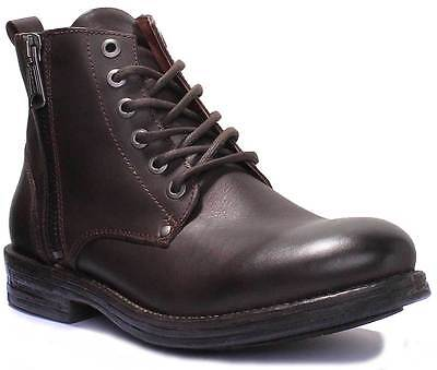 62dcffd386721 REPLAY PHIM MENS Black Leather Matt Ankle Boots UK Size 6 - 12 ...
