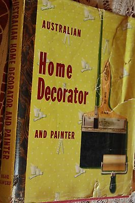 50's Australian Home Decorator and painter color Gravure vintage hard cover book