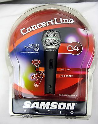 Samson Q4 CL Cardioid Dynamic Microphone - New,  Free Shipping