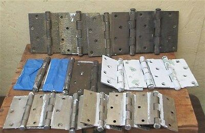 17 Hinges Door Cabinet Vintage Architectural Salvage Hardware Lot FREE SHIP USA