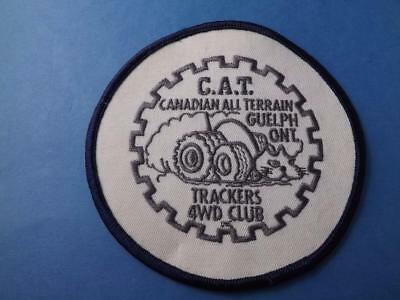 Guelph Cat Canadian All Terrain Trackers 4 Wd Club Patch Vintage Collector