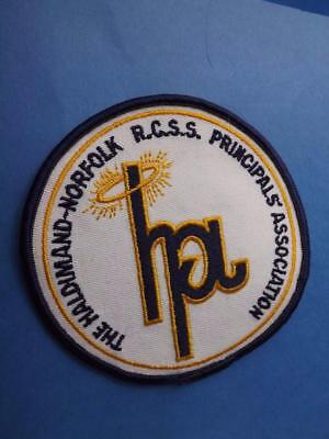 Haldimond Norfolk Principals Association Patch Vintage School Teacher Collector