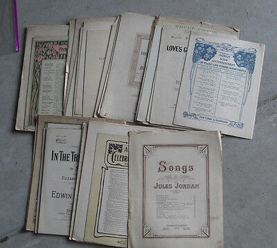 BIG Lot of 44 Late 1800s to 1920s Sheet Music Booklets LOOK