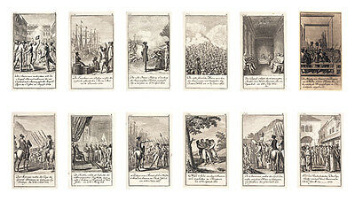 (1784) Very Rare Set 12 Historical Engraved American Revolutionary War Images!
