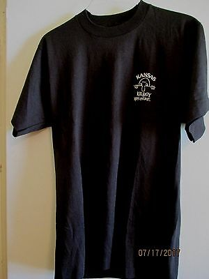 Kansas Kilroy Was Here ~ New Black Tee ~ Size Med.new  Fruit Of Loom