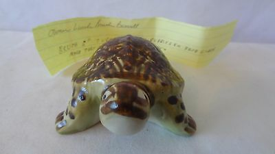 """Brush McCoy Pottery 5"""" Turtle Lawn Ornament With Paper #J382."""