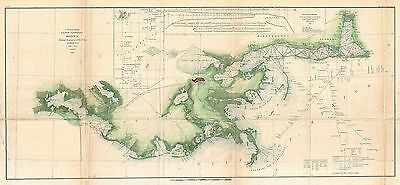 1855 Coastal Survey Map Nautical Chart of the Delta of the Mississippi River