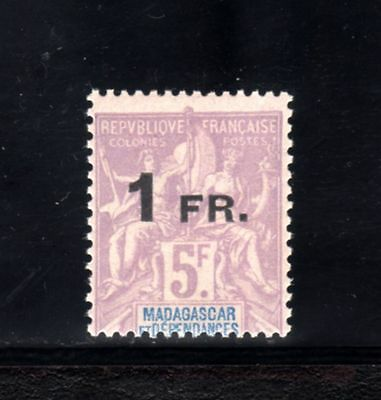 4714-MADAGASCAR-1921.Type SAGE.MNH.French colonies.SURCHARGE.