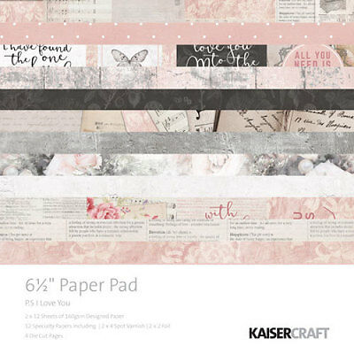 *A&B* KAISERCRAFT Scrapbooking Paper Pads PS I Love You PP1010 LIMITED STOCK