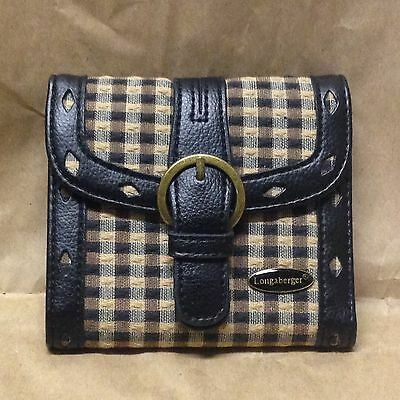 LONGABERGER Homestead Plaid WALLET New Condition