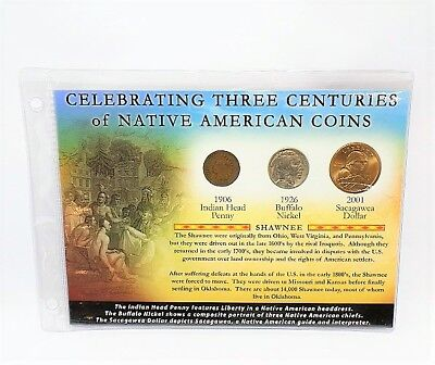 First Commemorative Mint Three Centuries of Native American Coins Set
