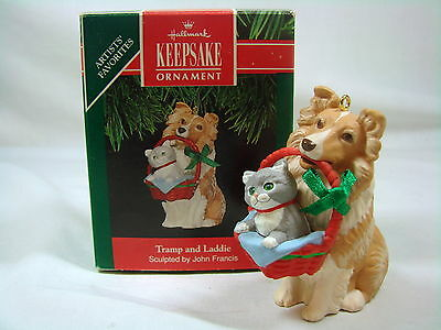 Hallmark Keepsake Ornament Tramp and Laddie 1991 Mint Artist Signed