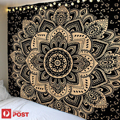 Queen Bed Indian Tapestry Wall Hanging Mandala Bedding Cover Beach Picnic Sheet