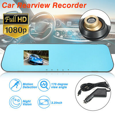 3.2 inch 1080P HD Car DVR Night Vision Camera Video Recorder Dash Cam G-Sensor