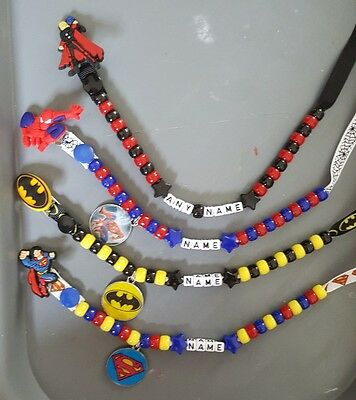 **superheroes** Personalised Dummy Clips & Free Mam Ring, Read Full Description!