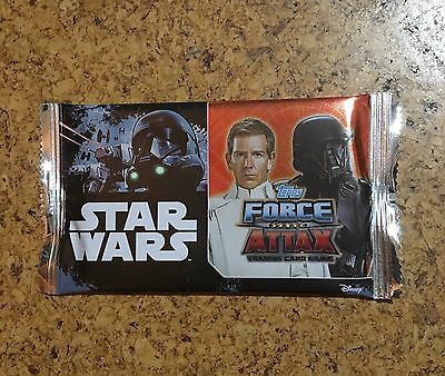 Star Wars Force Attax - 2017 : 1 Pack (Unopened) Trading Cards - Brand New!