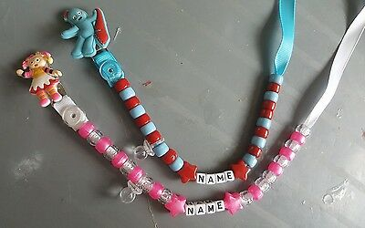 *in The Night Garden* Personalised Dummy Clip, *free Mam Ring* Read Description!