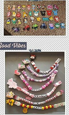 Reborn Babies Personalised Dummy Clips, **view All Photos** Any Name, L@@k!!!