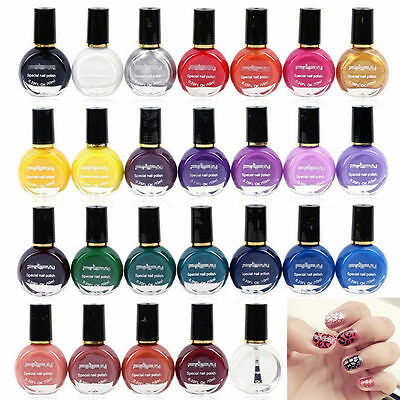Stamping Stencil Template Printing Nail Art Polish Painted Manicure Varnish Hot