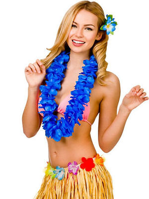 Rubies Hawaii Crinkle Petal Flower Lei - Blue, Orange, Pink and Green Available