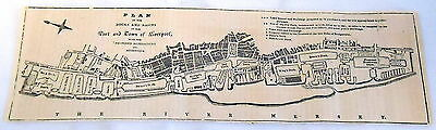 1832 magazine engraving ~ Plan of the Docks and Basins in the Port of LIVERPOOL