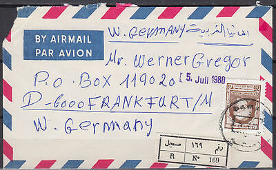 1980 Syrien Syria R-Cover Damaskus to Germany [cm927]