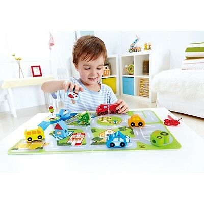 S#Hape Busy City Car Vehicle Play Set with Puzzle Mat Kids Children Toy Gift E10
