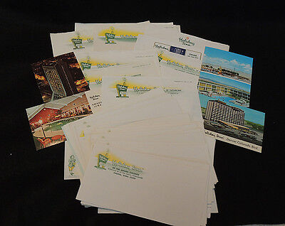 69 Pieces 1960s Holiday Inn Stationery, Envelopes & Postcards.. Paper Ephemera