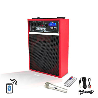 Pyle PWMAB250RD 300w Bluetooth 6.5'' Portable PA Speaker System Rechargeable