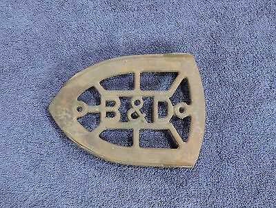 Antique Sad Iron Trivet / B&d