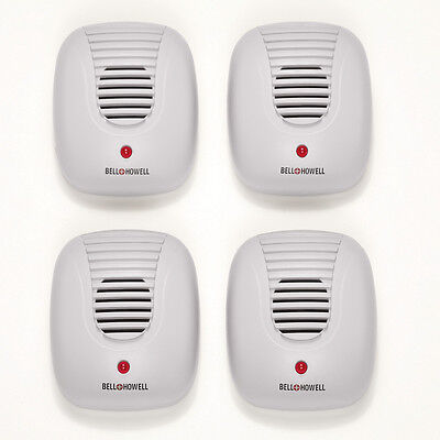 Bell + Howell Ultrasonic Pest Repeller - 4pk, White, by Collections Etc