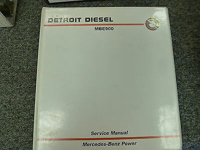 DETROIT MBE 900 EPA07 Diesel Engine Shop Service Manual CD