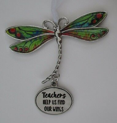 w Teachers help us find our wings DELIGHTFUL DRAGONFLY ORNAMENT CAR CHARM Ganz