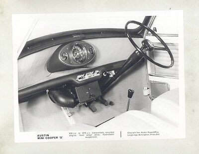 1963 ? Austin Mini Cooper S 1000 1275 Interior ORIGINAL Factory Photo wy4085