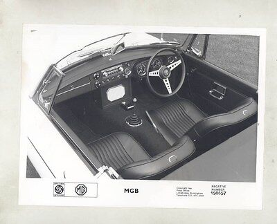 1971 MG MGB Interior ORIGINAL Factory Photograph wy4169