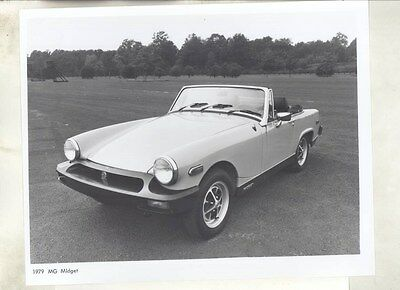1979 MG Midget ORIGINAL Factory Photograph & Press Sheet wy4176