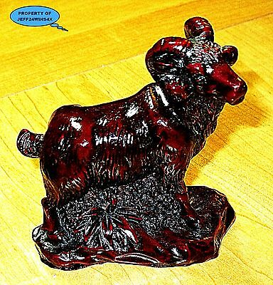 Awesome RAM SHEEP FIGURINE PAPER WEIGHT Shiny Cherry / Perfect For Your Desk!!!