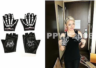 Wwe Alexa Bliss Hand Signed Autographed Pair Of Gloves With Exact Proof And Coa