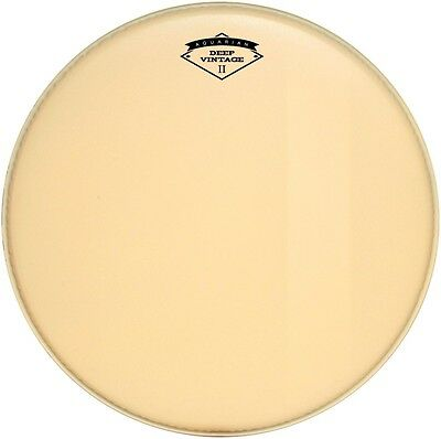 Aquarian Deep Vintage II Bass Drumhead with Felt Strip 22 Inch