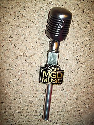"""Miller MGD Microphone Figural Tap Handle 12"""" NMC Never Used"""
