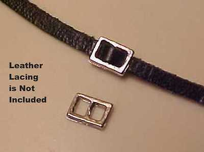 """RDLC Traditional or Classic Scale 3/32"""" RECTANGULAR BUCKLES - Silver-toned Pair"""