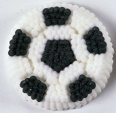 Wilton Soccer Ball icing Decals - Edible Cupcake Toppers Decorations NEW